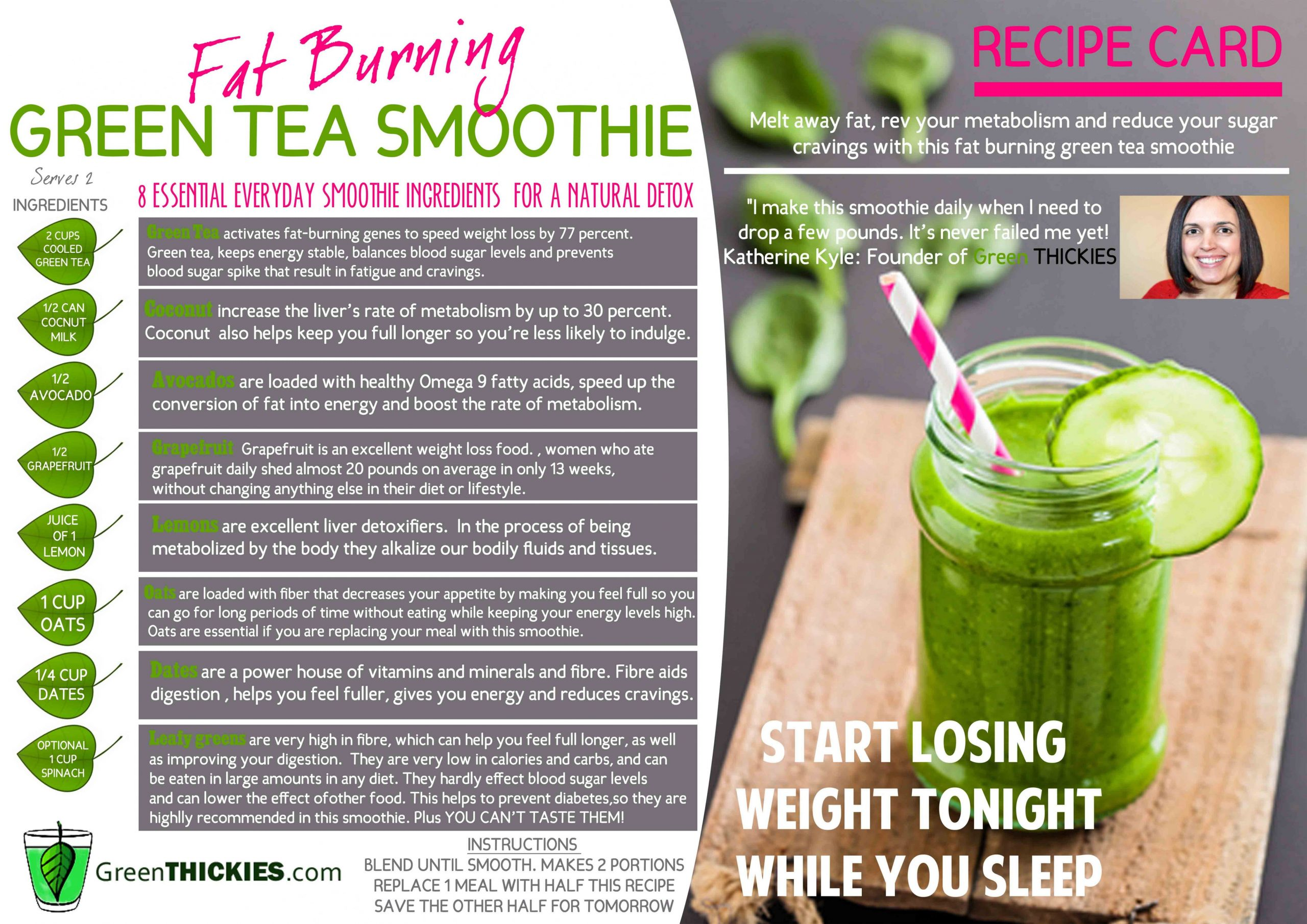 Recipe Card Download - Green Thickies: Filling Green Smoothie Recipes