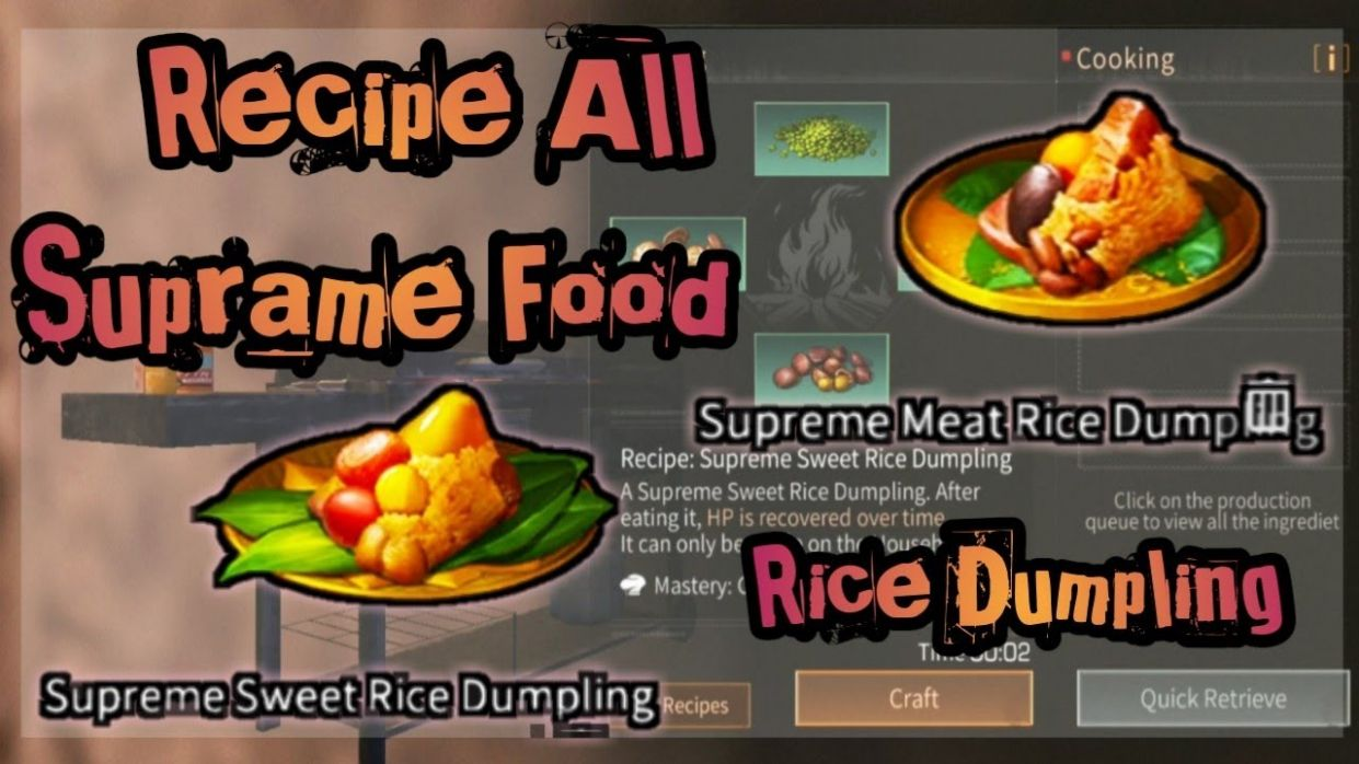 Recipe Dumpling Supreme Food & All Dumpling | Double 8th Lifeafter - Cooking Recipes Lifeafter