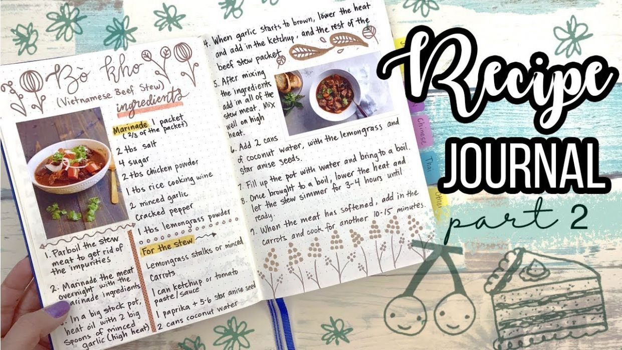RECIPE JOURNAL ♨ How I design my layouts! PART 11 - Food Recipe Journal