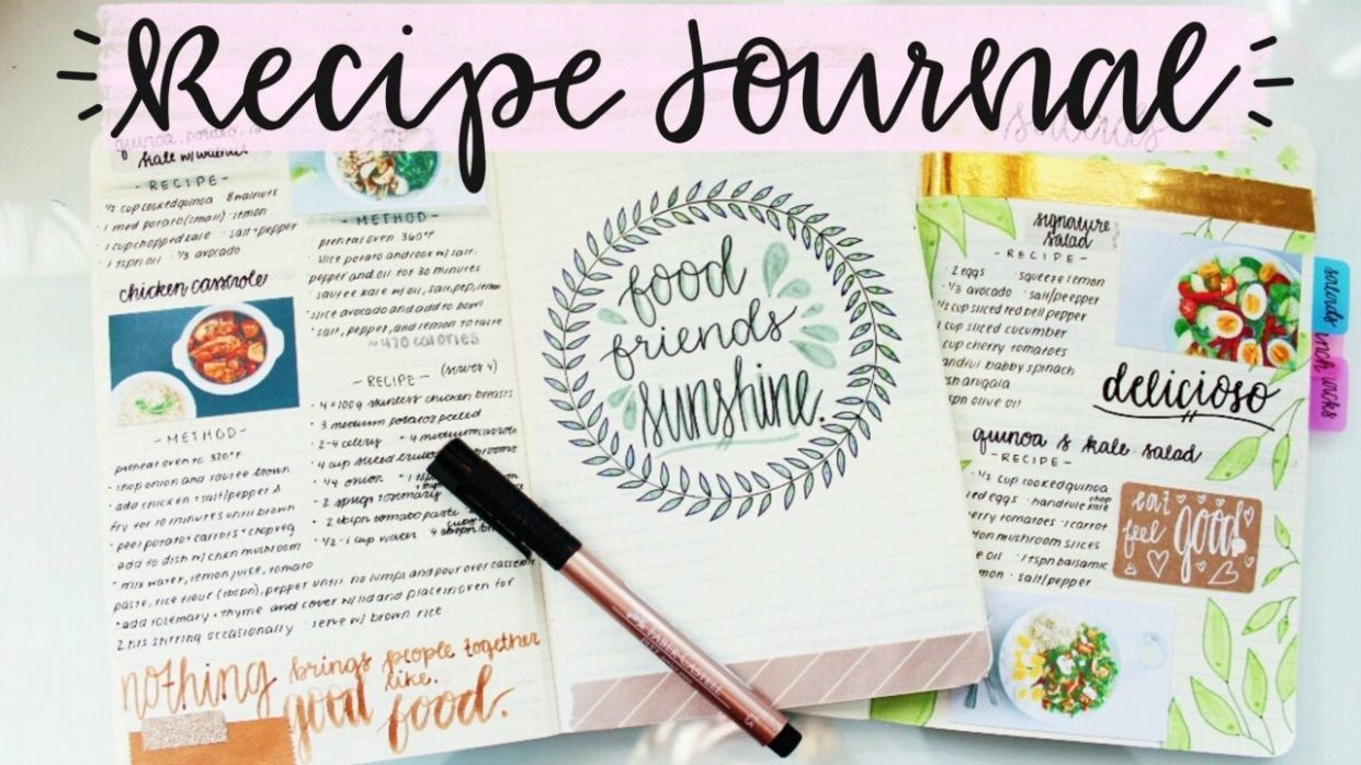 Recipe Journal Setup and Flip Through - Food Recipe Journal