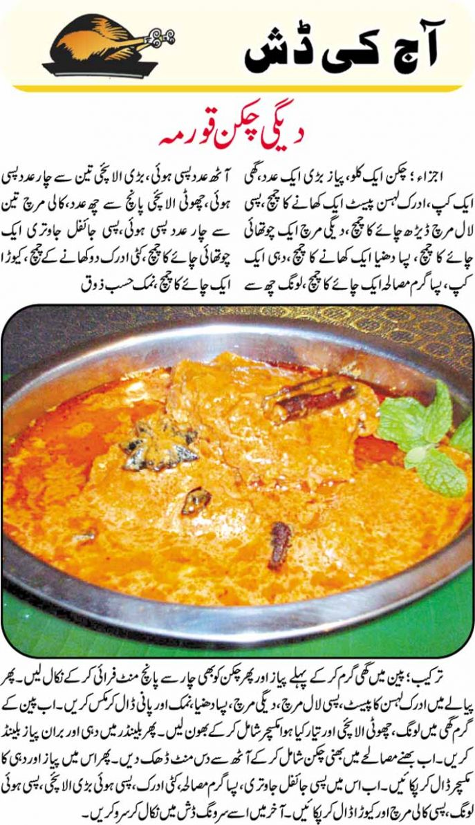 recipes: Degi Chicken Korma Recipe in Urdu