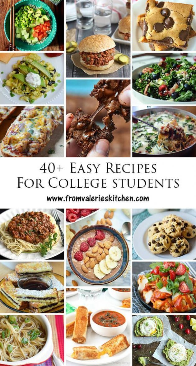 Recipes for the college cook. Simple ingredients, no fancy kitchen ...