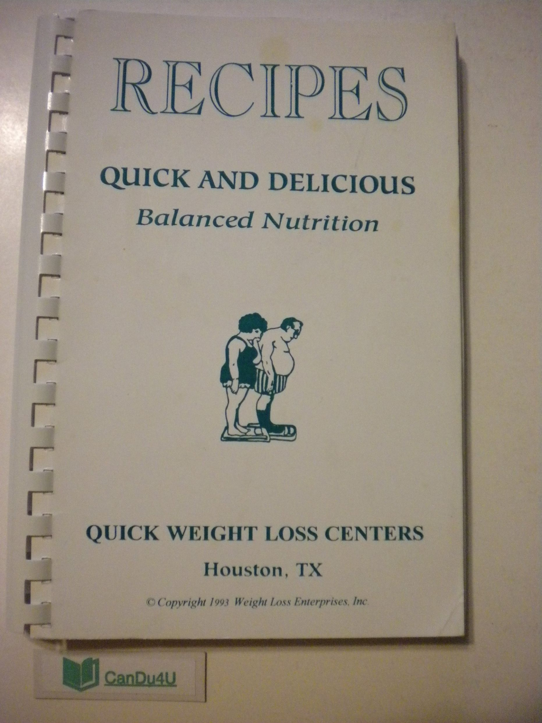 RECIPES Quick and Delicious Balanced Nutrition by Quick Weight ..