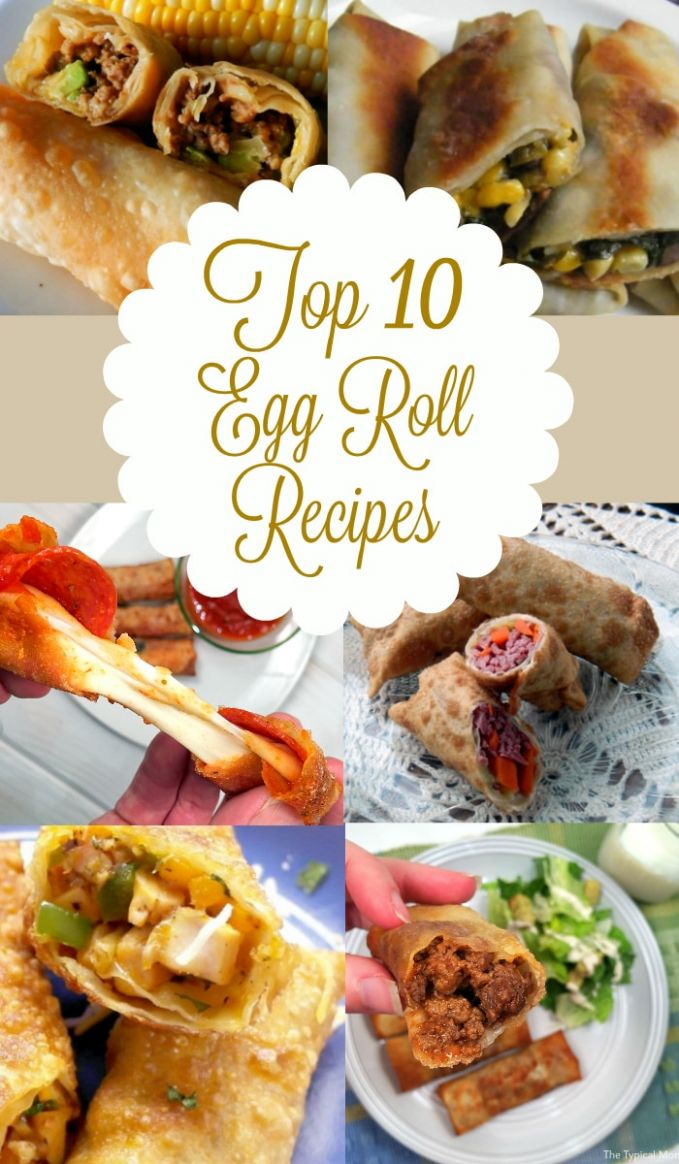 Recipes using egg roll wrappers · The Typical Mom
