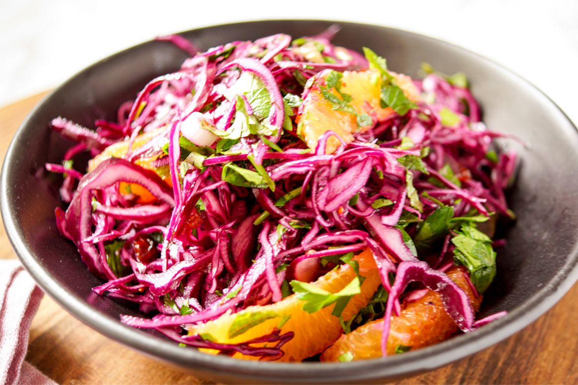Red Cabbage, Cranberry & Orange Salad