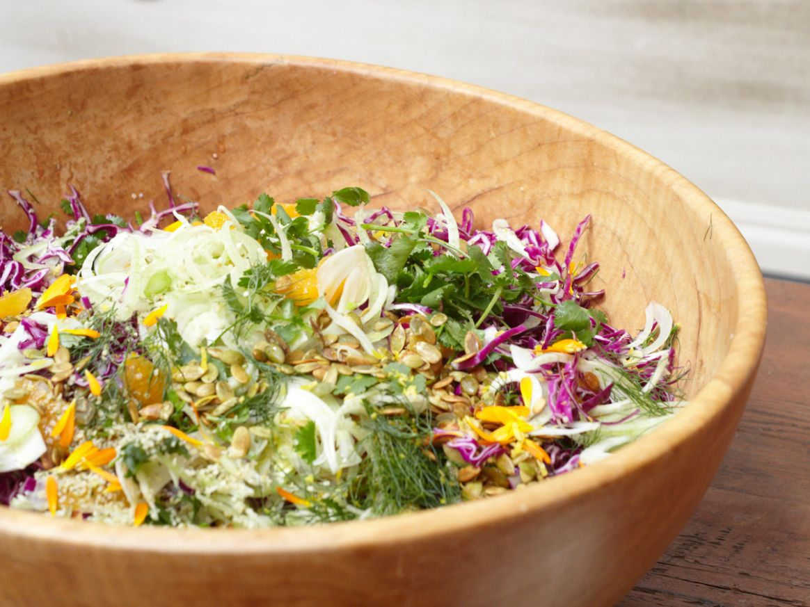 Red Cabbage Salad with Fennel, Orange and Pepitas
