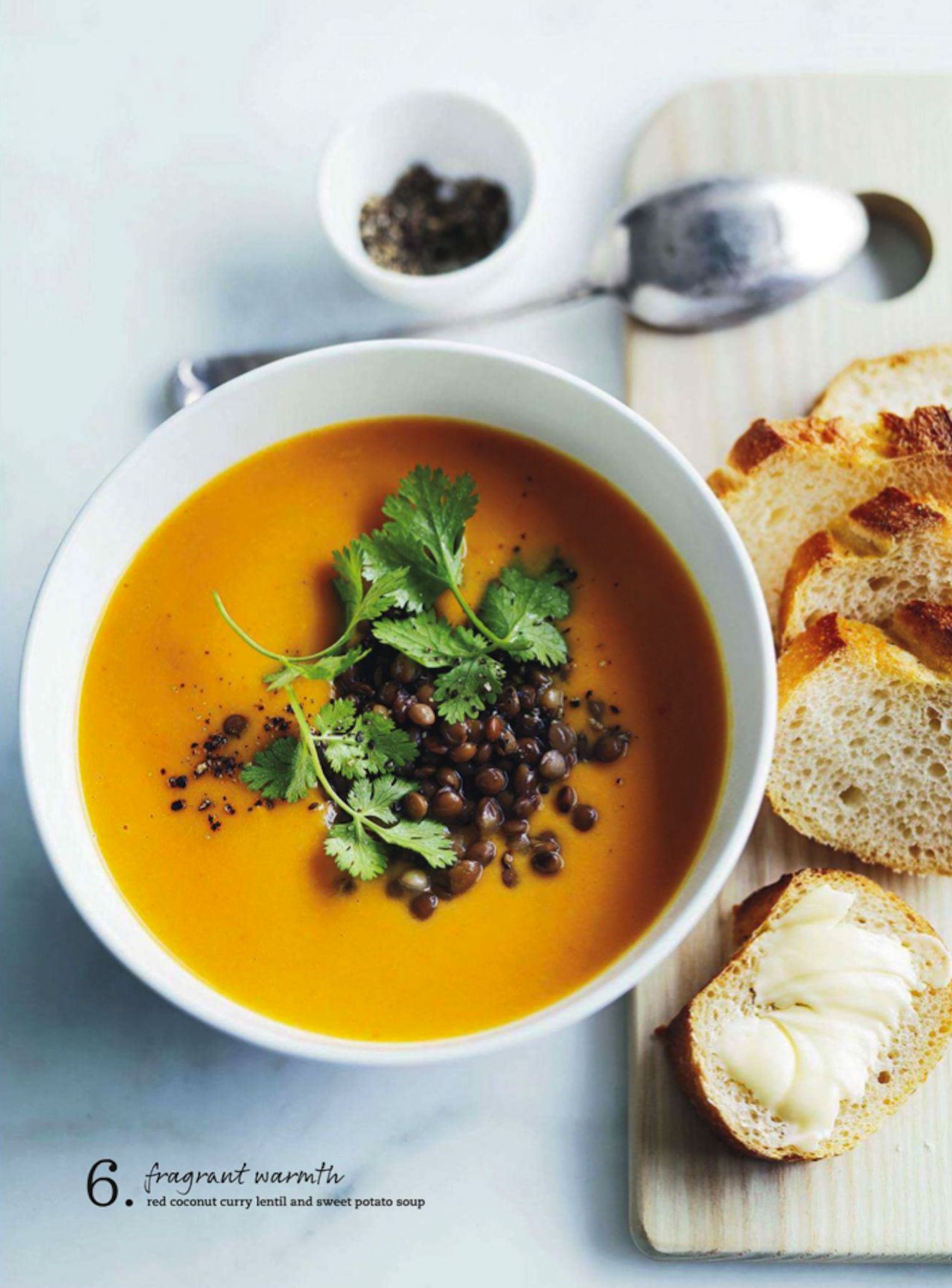 Red Coconut Curry Lentil & Sweet Potato Soup