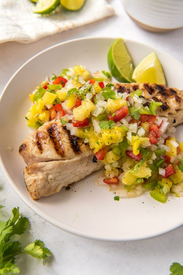 Red Snapper with Pineapple Salsa - Fish Recipes Red Snapper