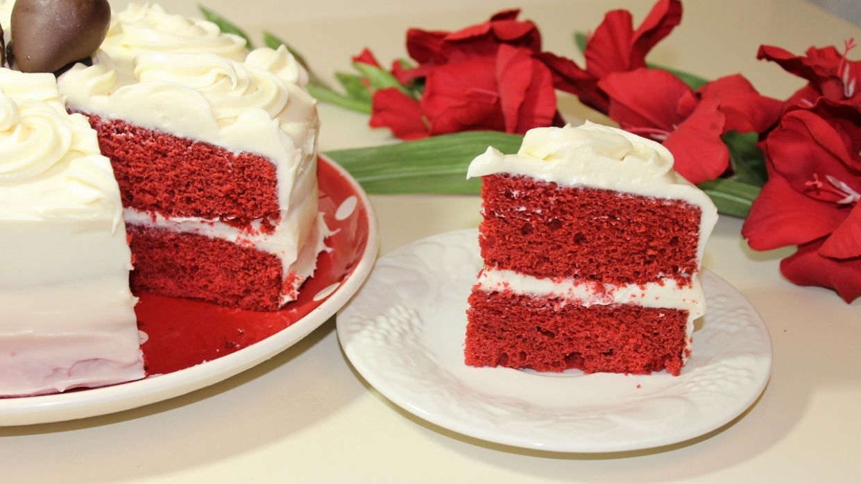 Red Velvet Cake with Cream Cheese Frosting - Malayalam Valentine's day  Recipe By Pachakalokam