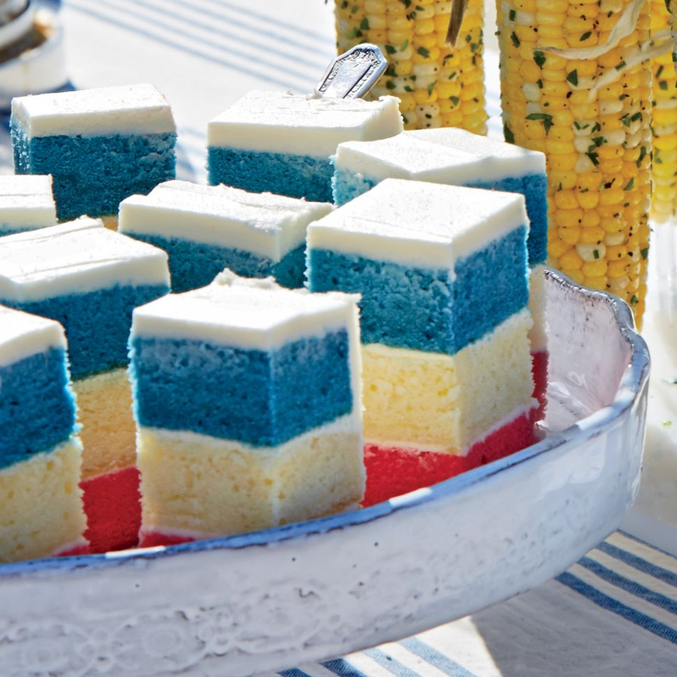 Red, White, and Blue Layer Cake Recipe | MyRecipes - Dessert Recipes Red White Blue