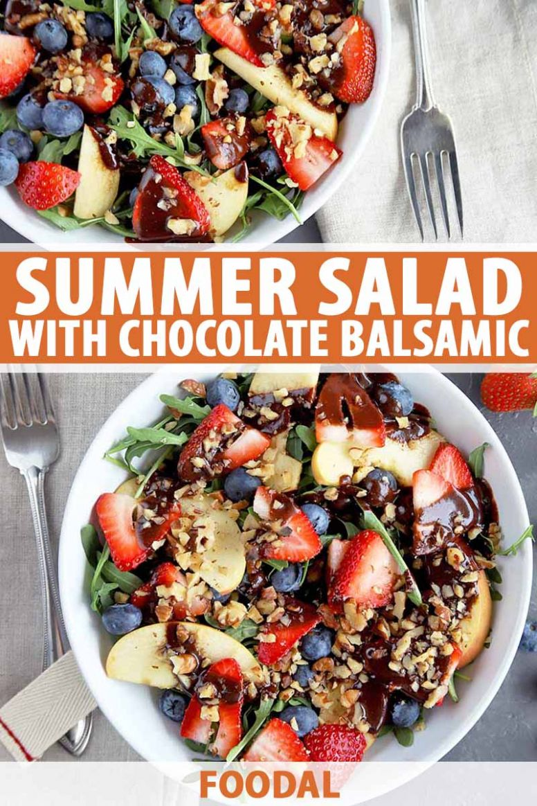 Refreshing Summer Salad with Chocolate Balsamic Vinaigrette | Foodal