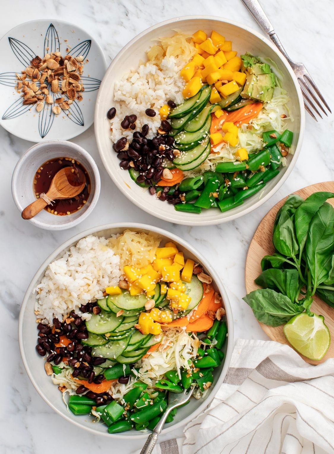 Rice Bowl Recipes: Mango Avocado Rice Bowl - Recipes Rice Bowls