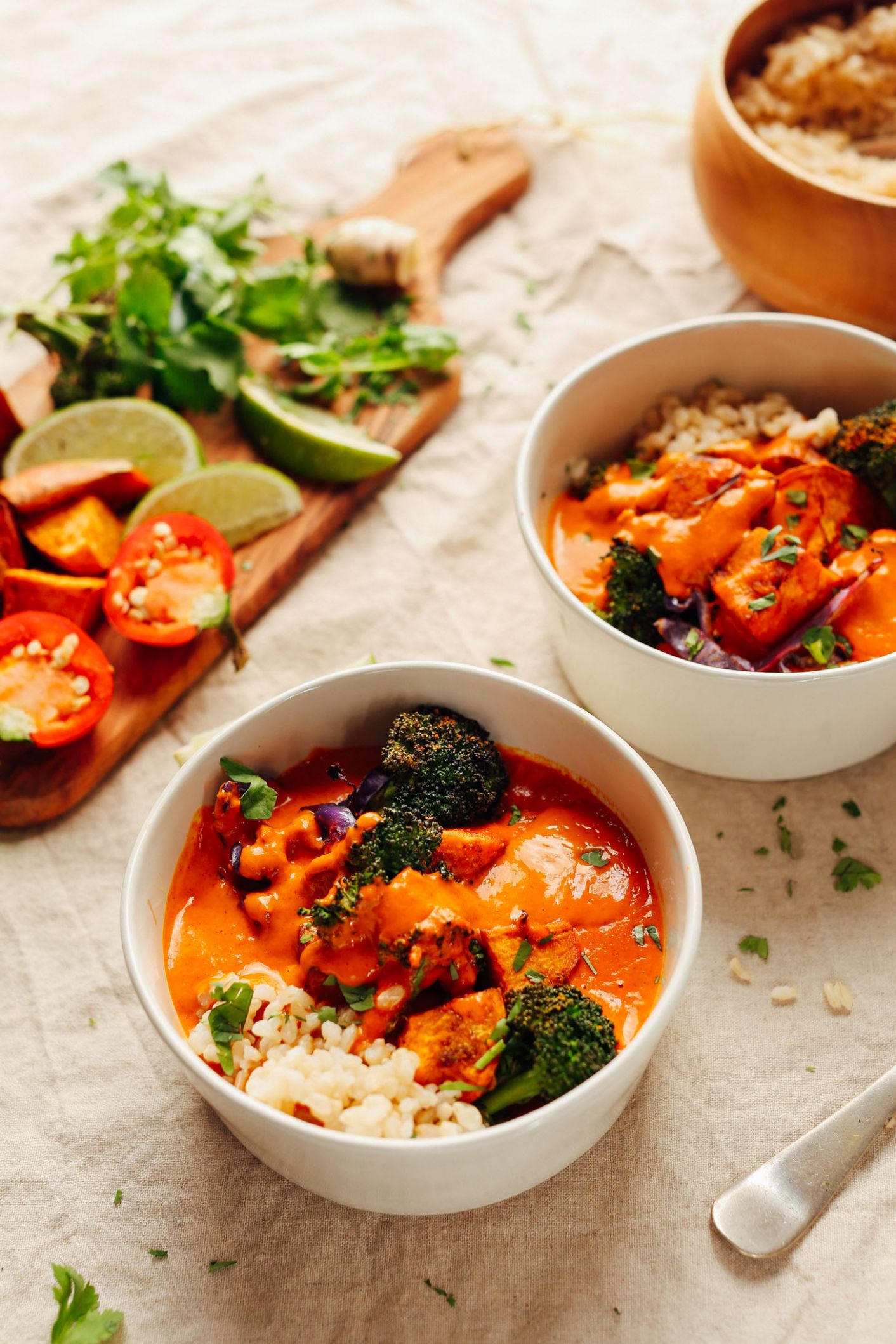 Rich Red Curry with Roasted Vegetables - Recipe Vegetarian Red Curry