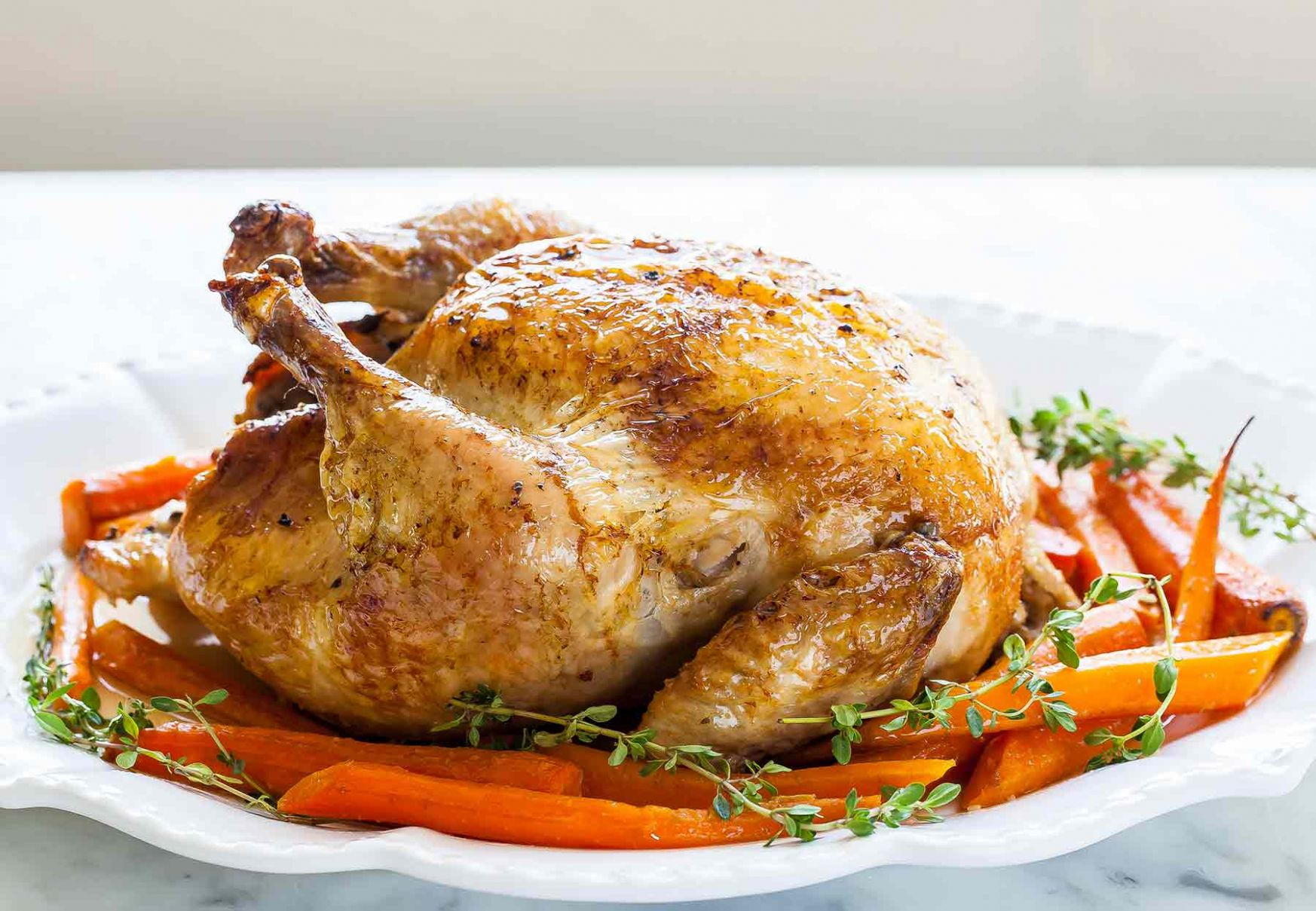 Roast Chicken with Carrots - Simple Recipes Roast Chicken