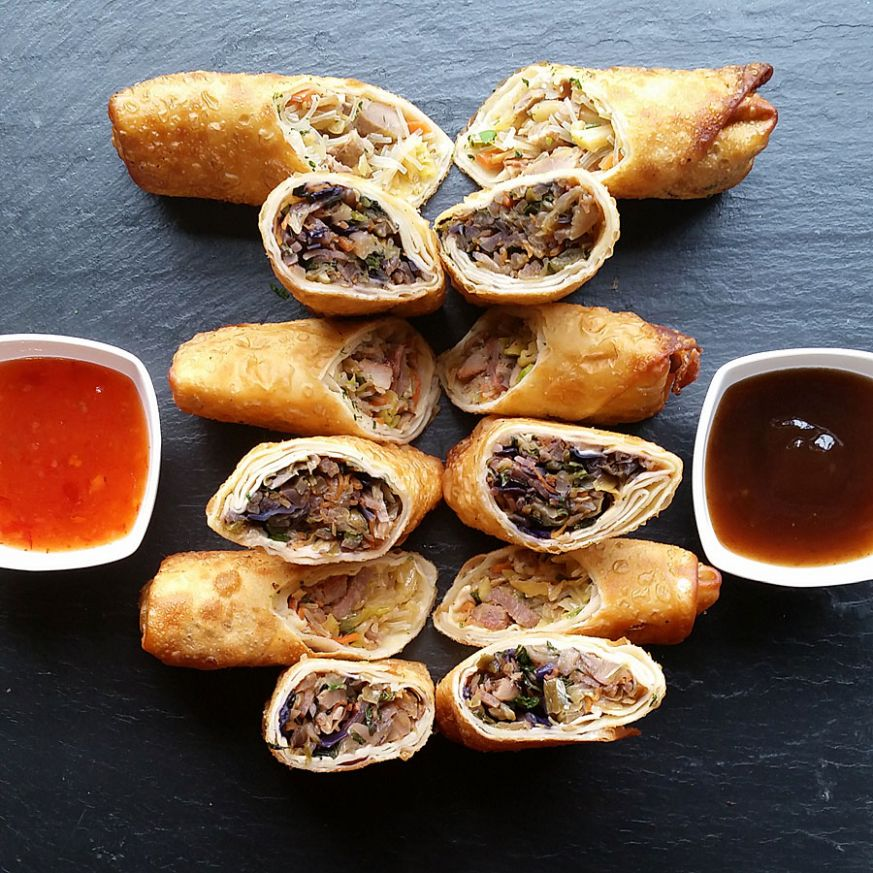 Roast Pork Egg Rolls