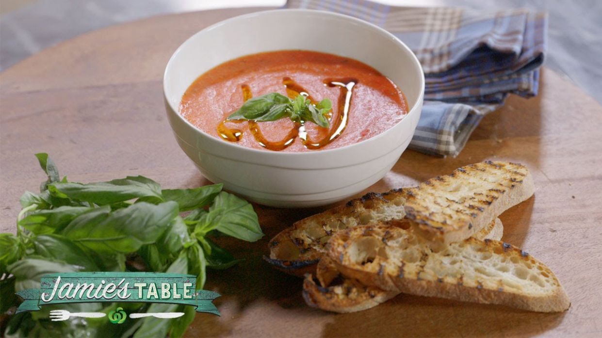 Roast Tomato & Bread Soup Recipe - Jamie's Table