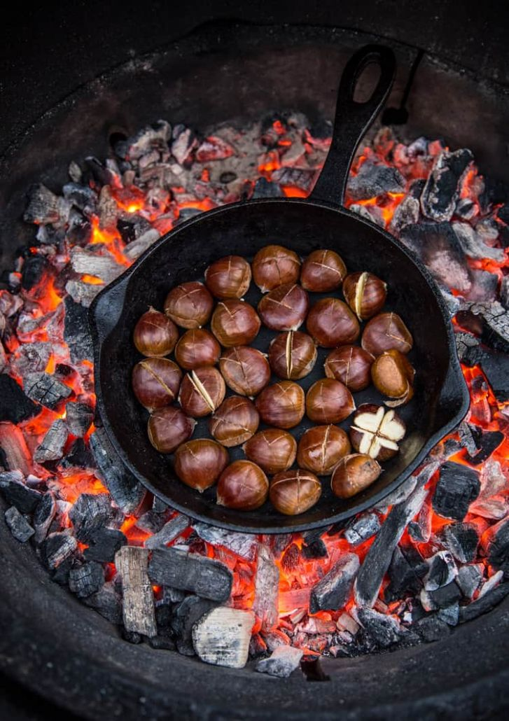 Roasted Chestnuts over Open Fire