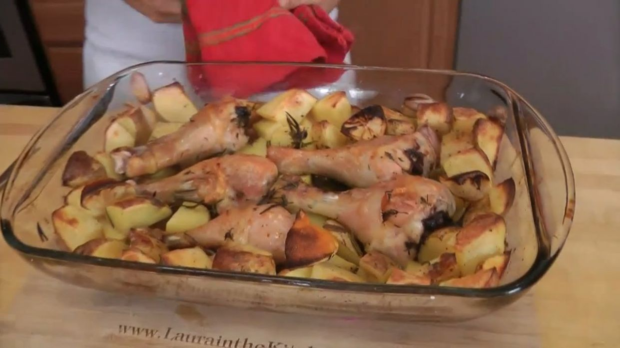 Roasted Chicken and Potato Bake - Recipe by Laura Vitale - Laura in the  Kitchen Ep 12