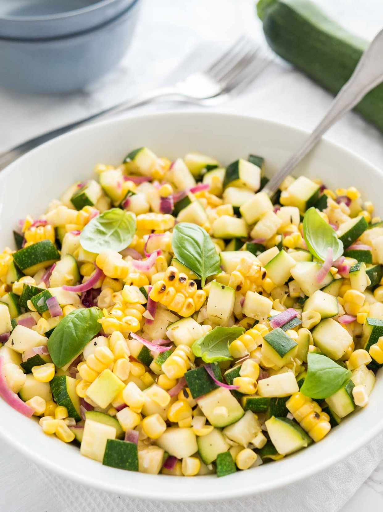 Roasted Corn Zucchini Salad - Salad Recipes Using Zucchini