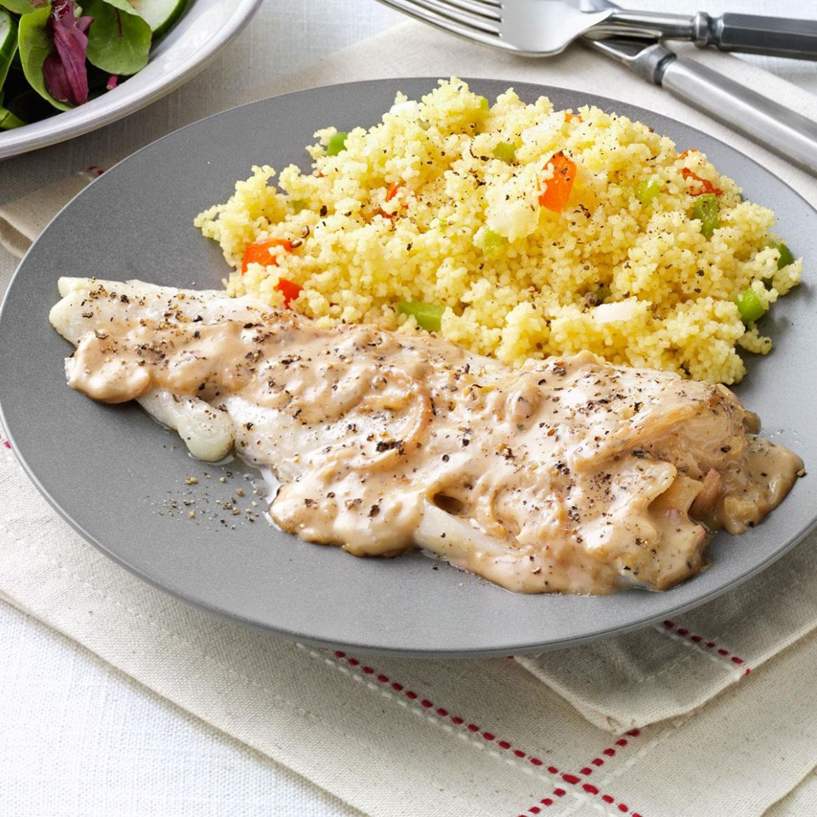 Roasted Fish with Light Herb Sauce - Recipe Fish With Sauce