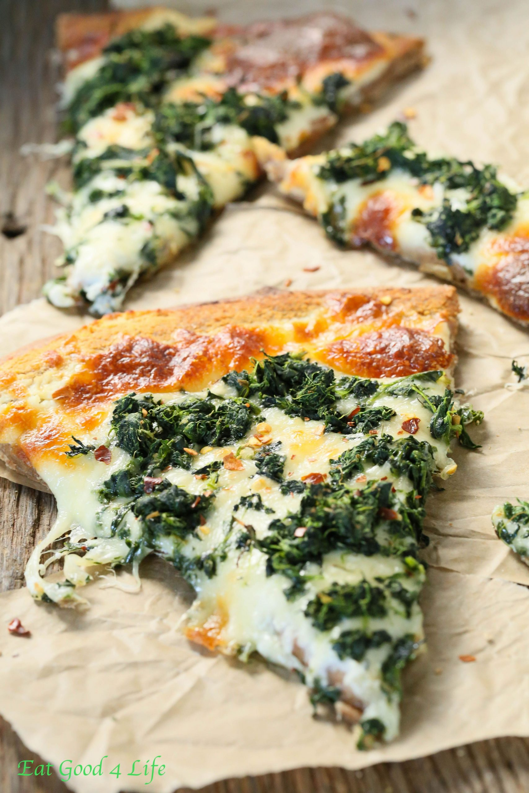 Roasted garlic spinach white pizza - Recipes Pizza With Spinach