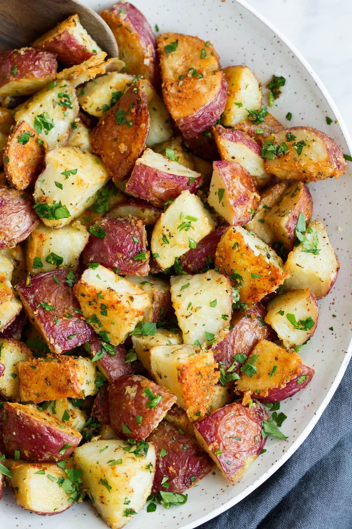Roasted Potatoes (with Parmesan Garlic and Herbs) - Potato Recipes Russet
