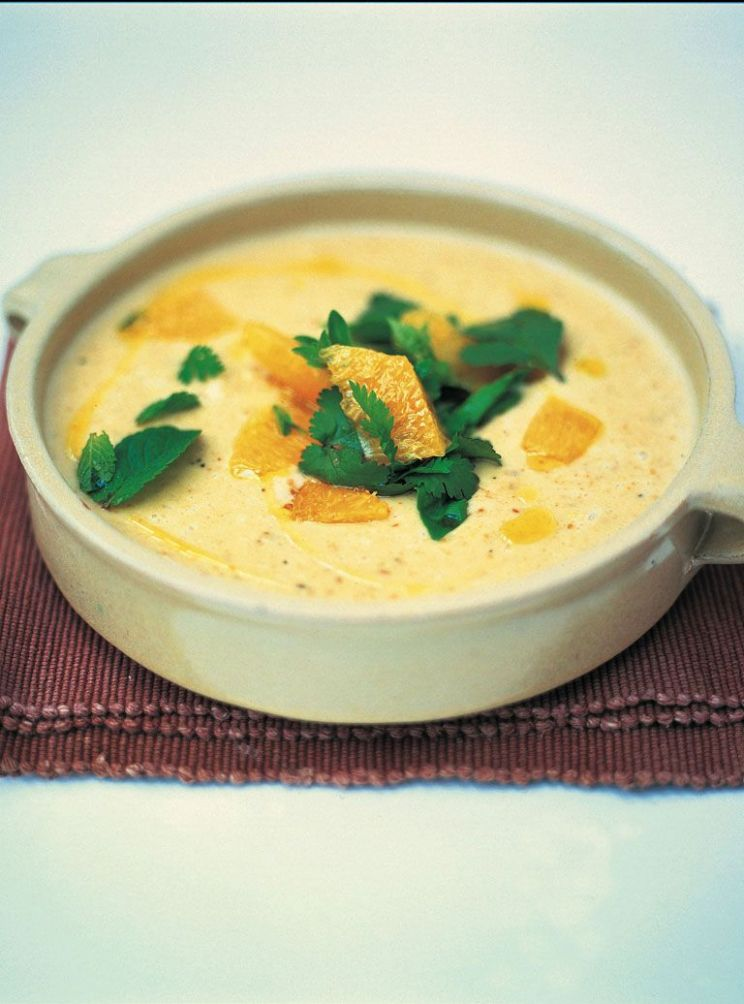 Roasted sweet garlic, bread and almond soup - Soup Recipes Jamie Oliver