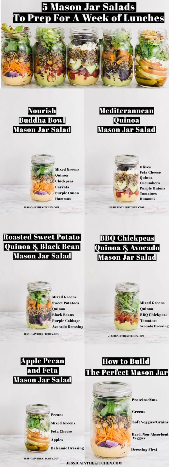 Roasted Sweet Potato & Black Bean Salad - Recipes Salad In A Jar