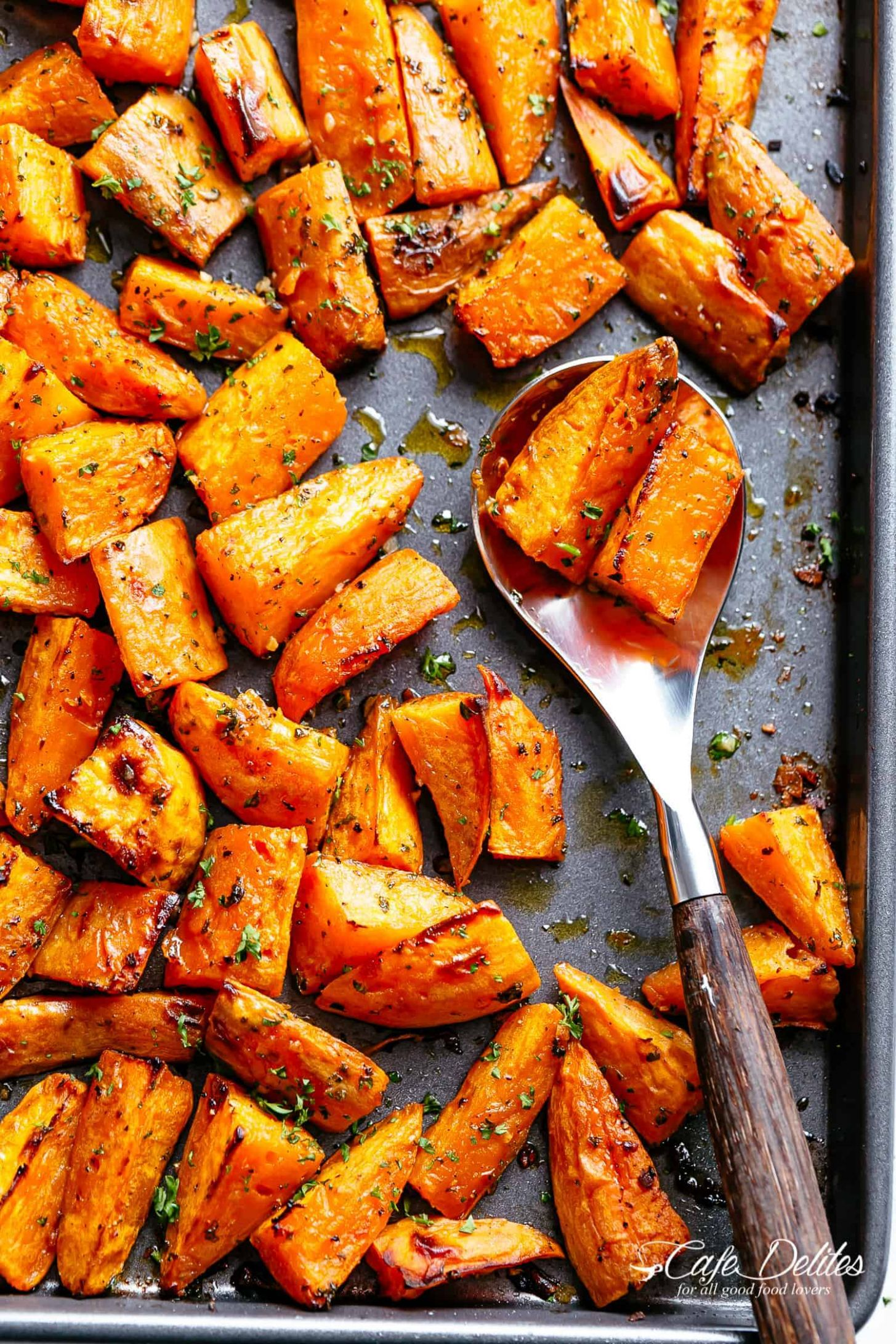 Roasted Sweet Potatoes - Cafe Delites
