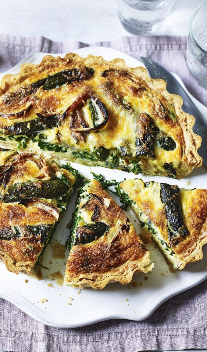 Roasted vegetable quiche - Recipes Vegetarian Quiche