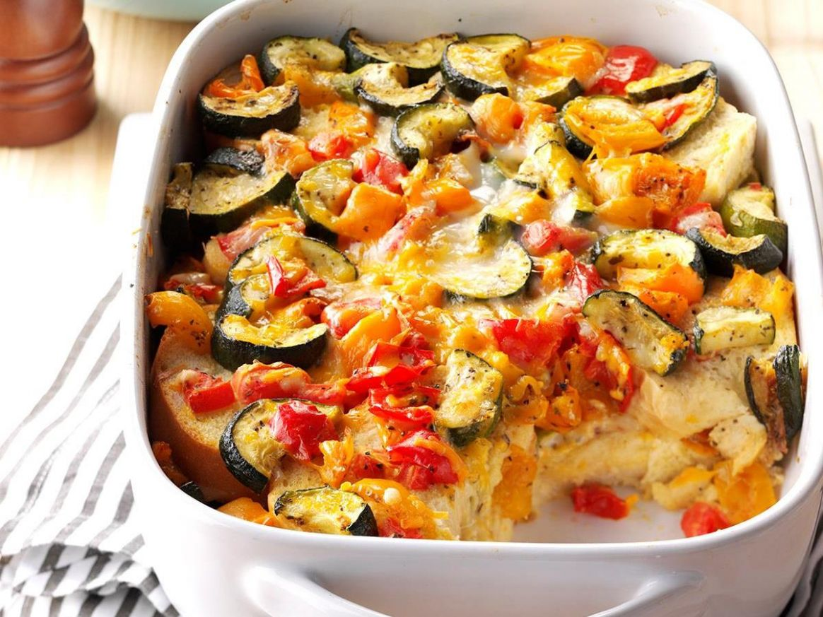 Roasted Vegetable Strata - Healthy Recipes Zucchini