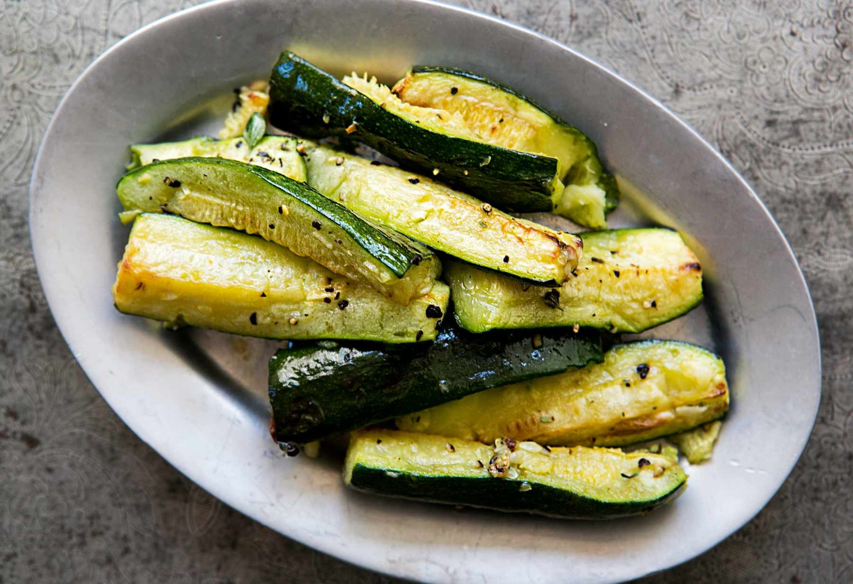 Roasted Zucchini with Garlic