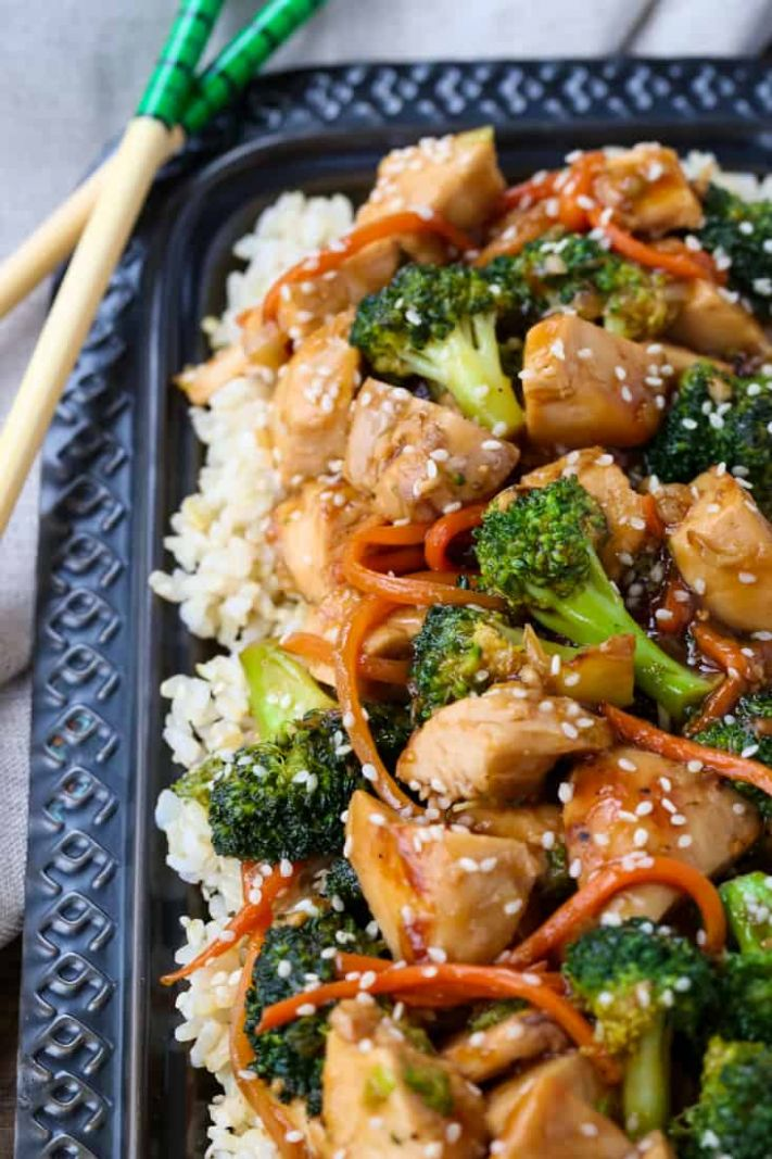 Rotisserie Chicken and Broccoli Stir Fry