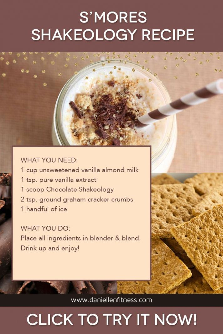 S'mores Shakeology Recipe! A healthy superfood treat after an ...