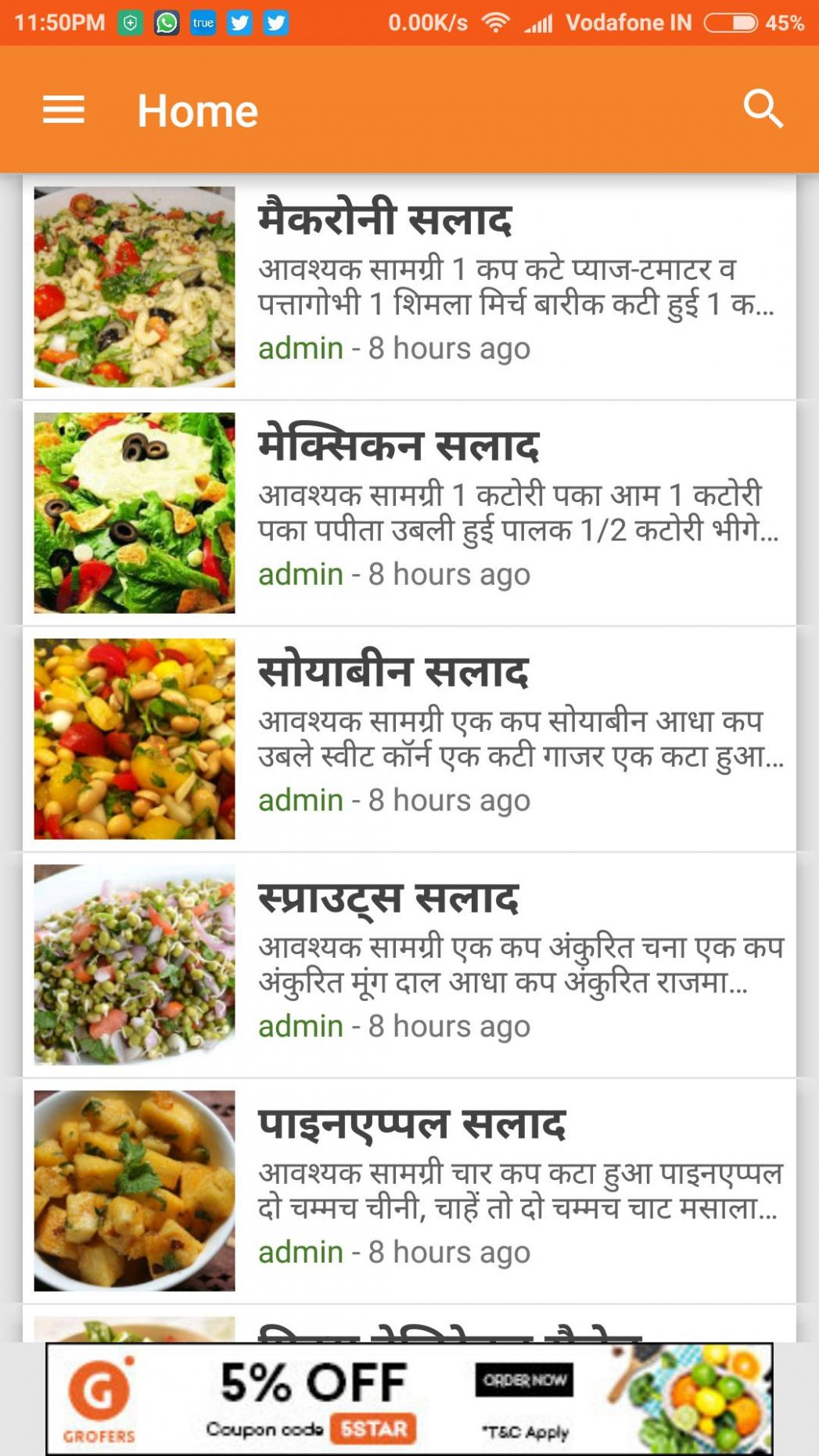 Salad Recipes in Hindi for Android - APK Download - Salad Recipes Hindi