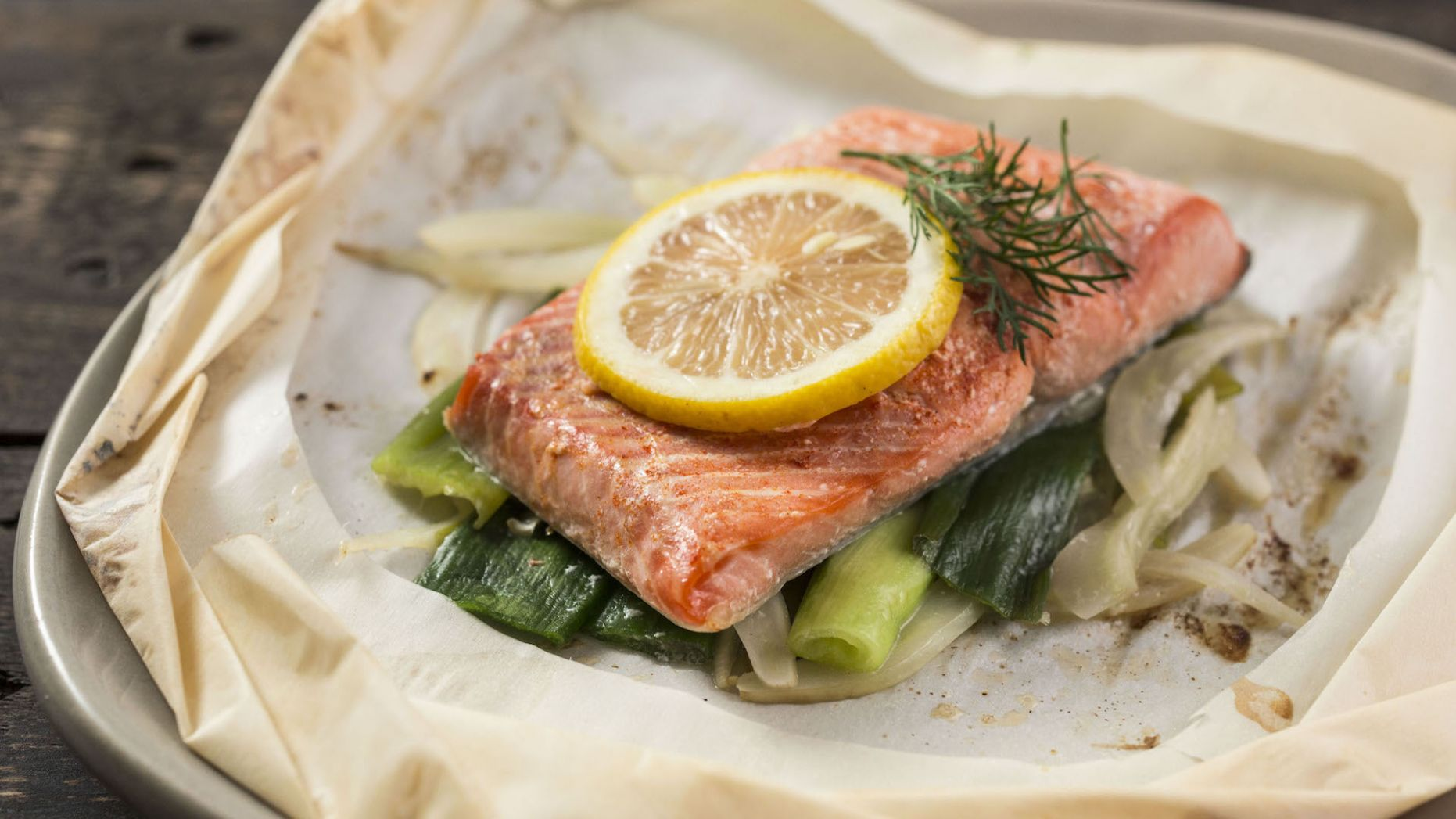 Salmon in a Parchment Bag