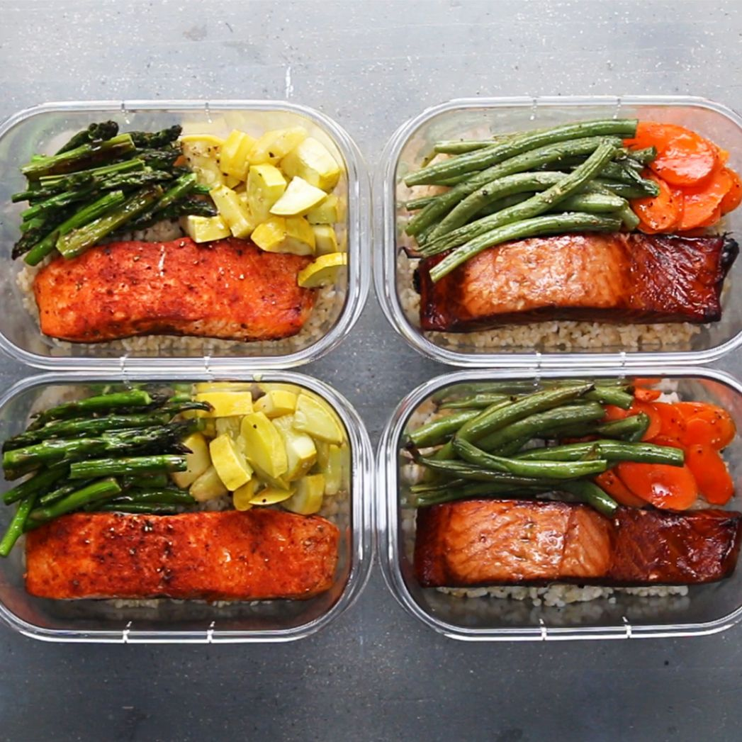 Salmon Meal Prep for Two Recipe by Tasty - Simple Recipes Meal Prep