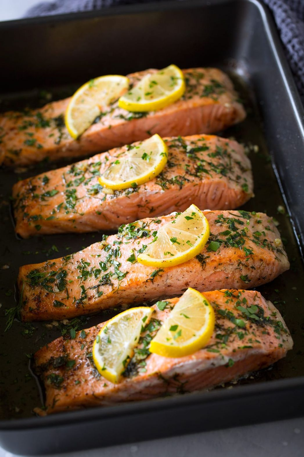 Salmon Roasted in Butter - Easy Recipes Salmon