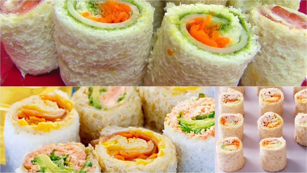 Sandwich Rollups or Pinwheels - Bread Sushi - Kid's Video Recipes - Perfect  Summer Recipe