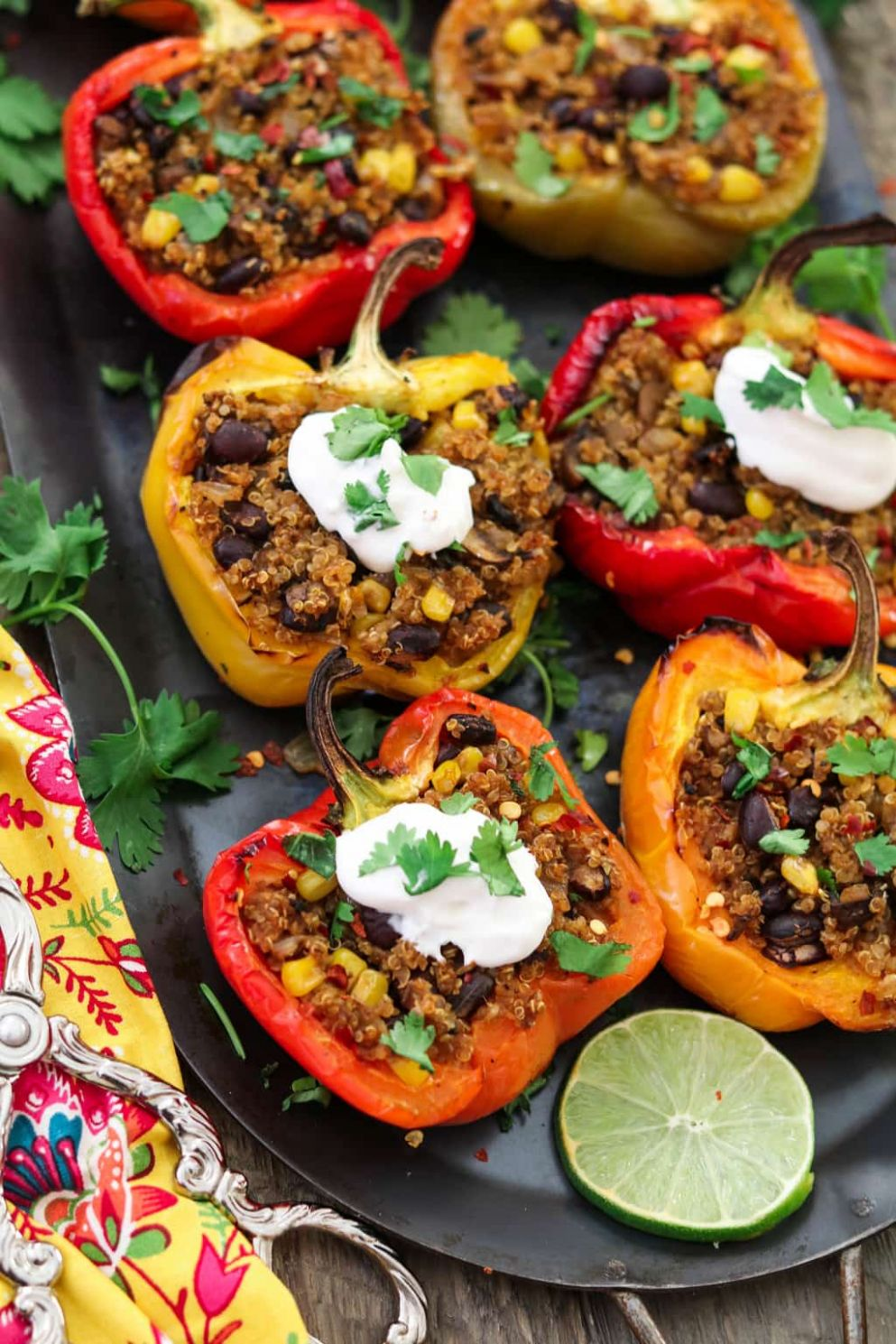 Santa Fe Quinoa Stuffed Peppers (Vegan + GF) - Recipe Vegetarian Quinoa Stuffing