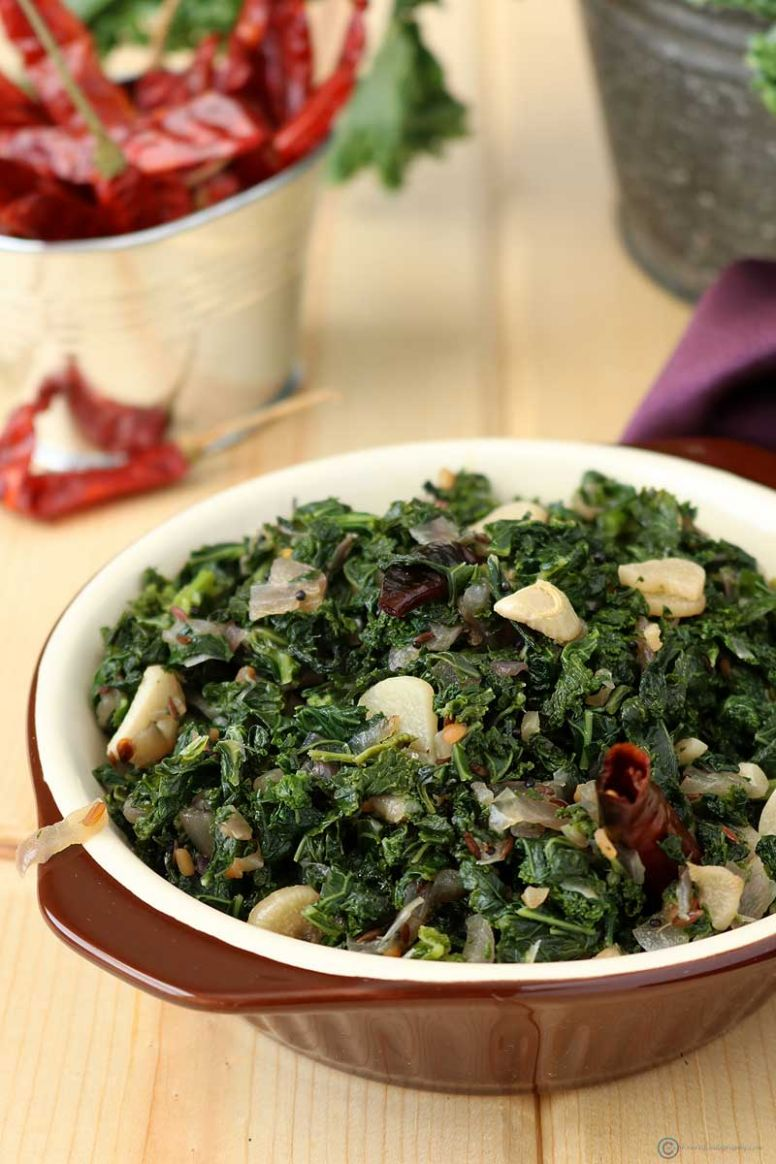 Sauteed Kale (Indian Style) - Recipes Cooking Kale