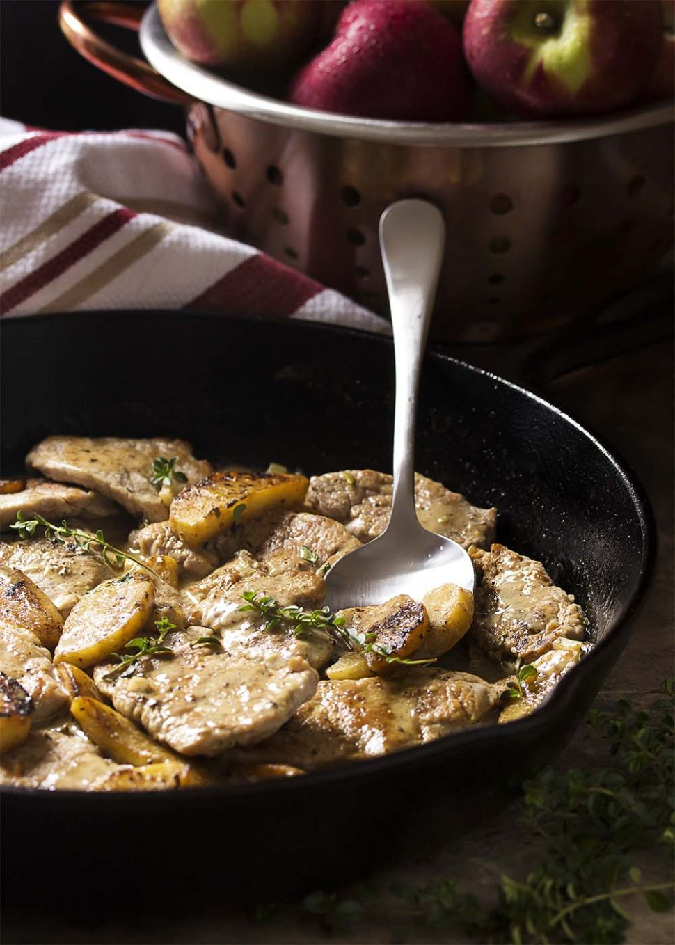 Sauteed Pork Tenderloin Medallions with a Cider Cream Sauce - Just ..