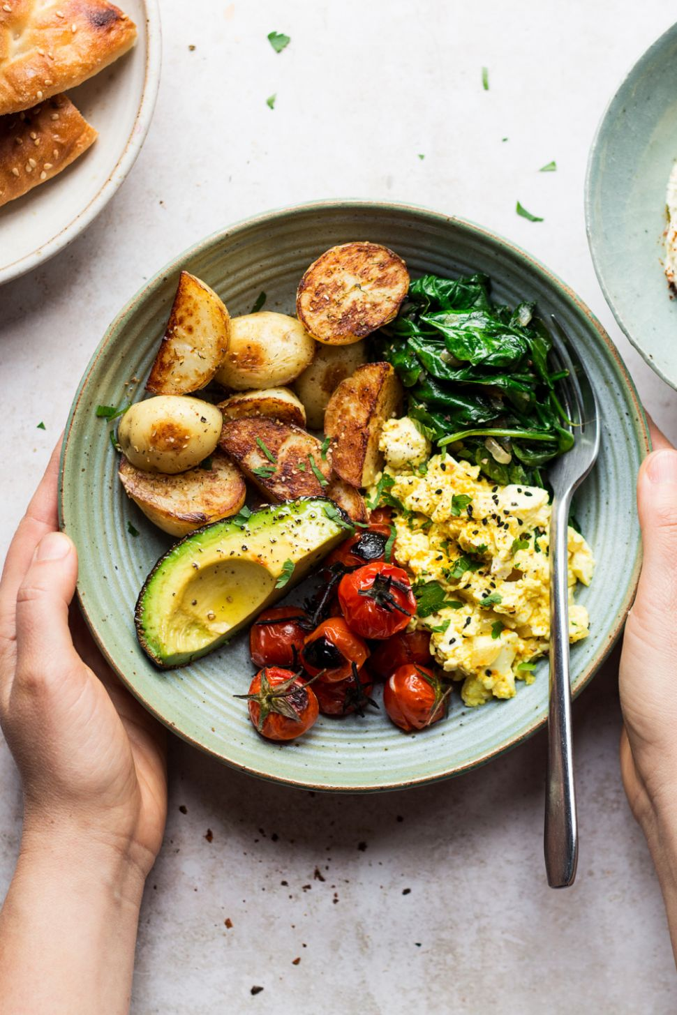 Savoury vegan breakfast bowl