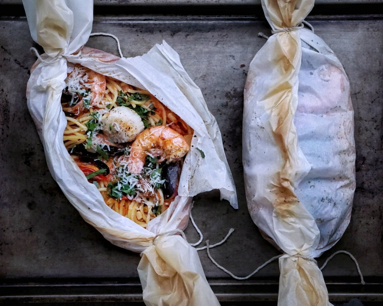 Seafood Pasta in Parchment - Pantry No. 12