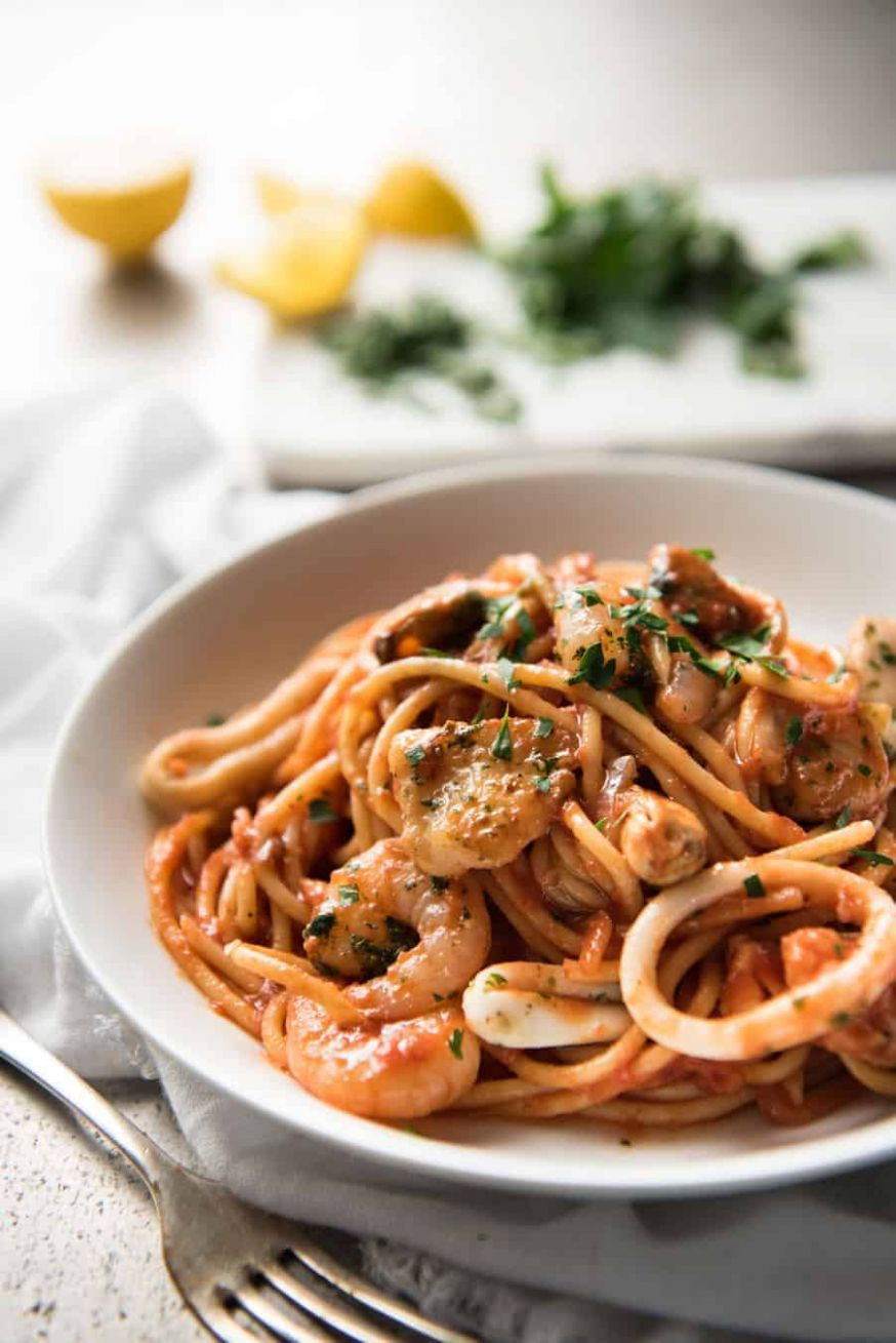 Seafood Spaghetti Marinara - Recipes Fish Pasta