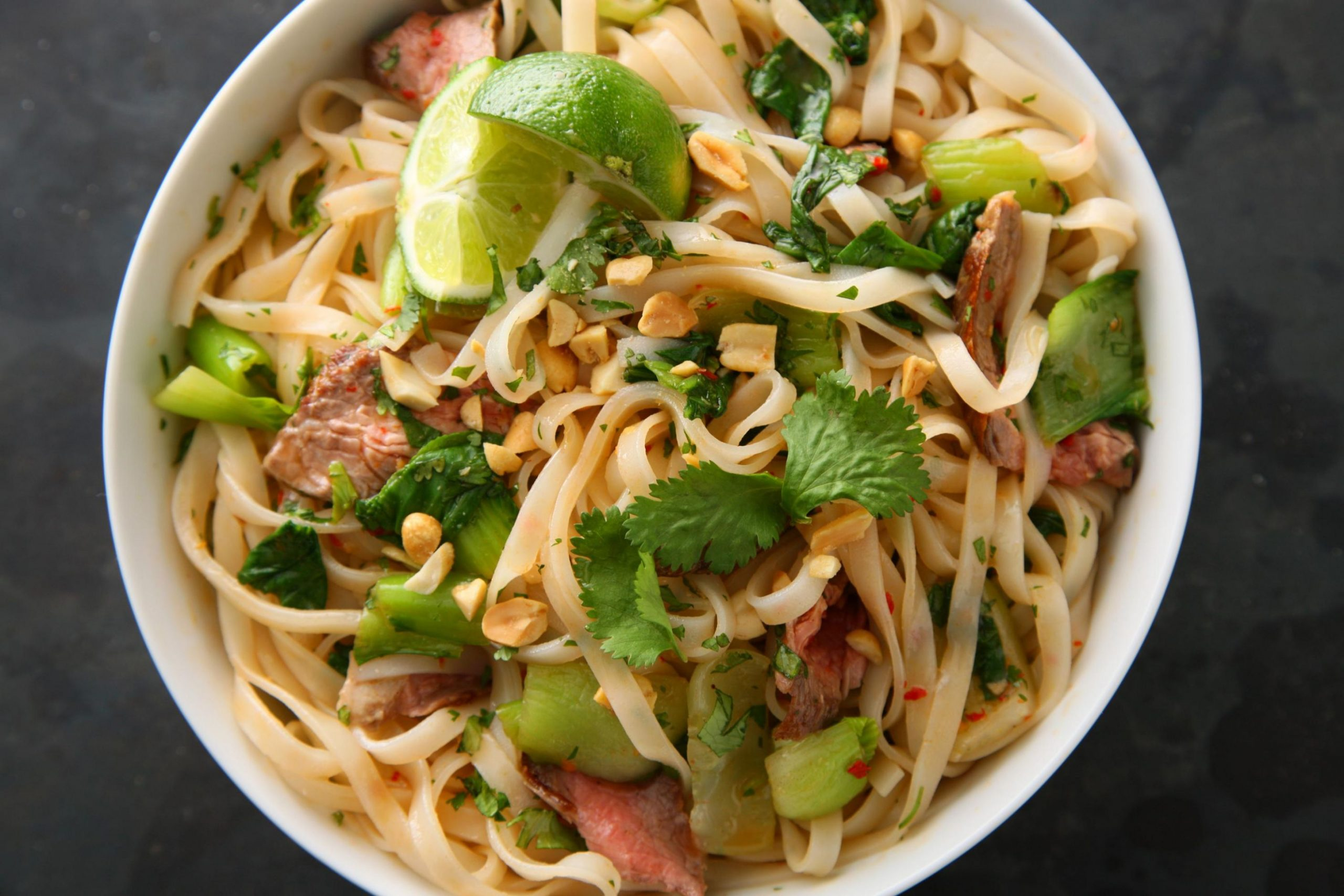 Seared Steak with Spicy Rice Noodles - Recipes Using Rice Noodles