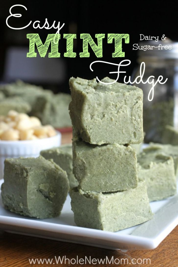 Secret-Ingredient Mint Fudge - low carb, vegan and sugar free - Healthy Recipes With Xylitol