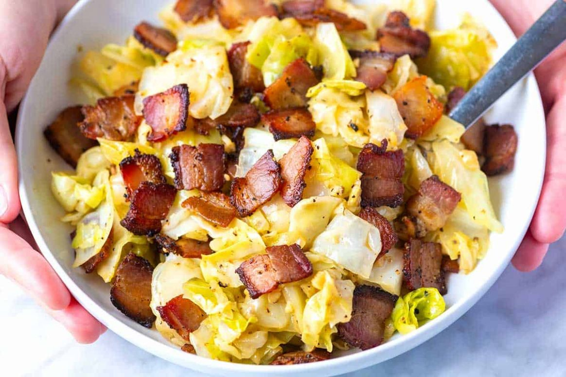 Seriously Good Bacon Fried Cabbage - Dinner Recipes Using Bacon