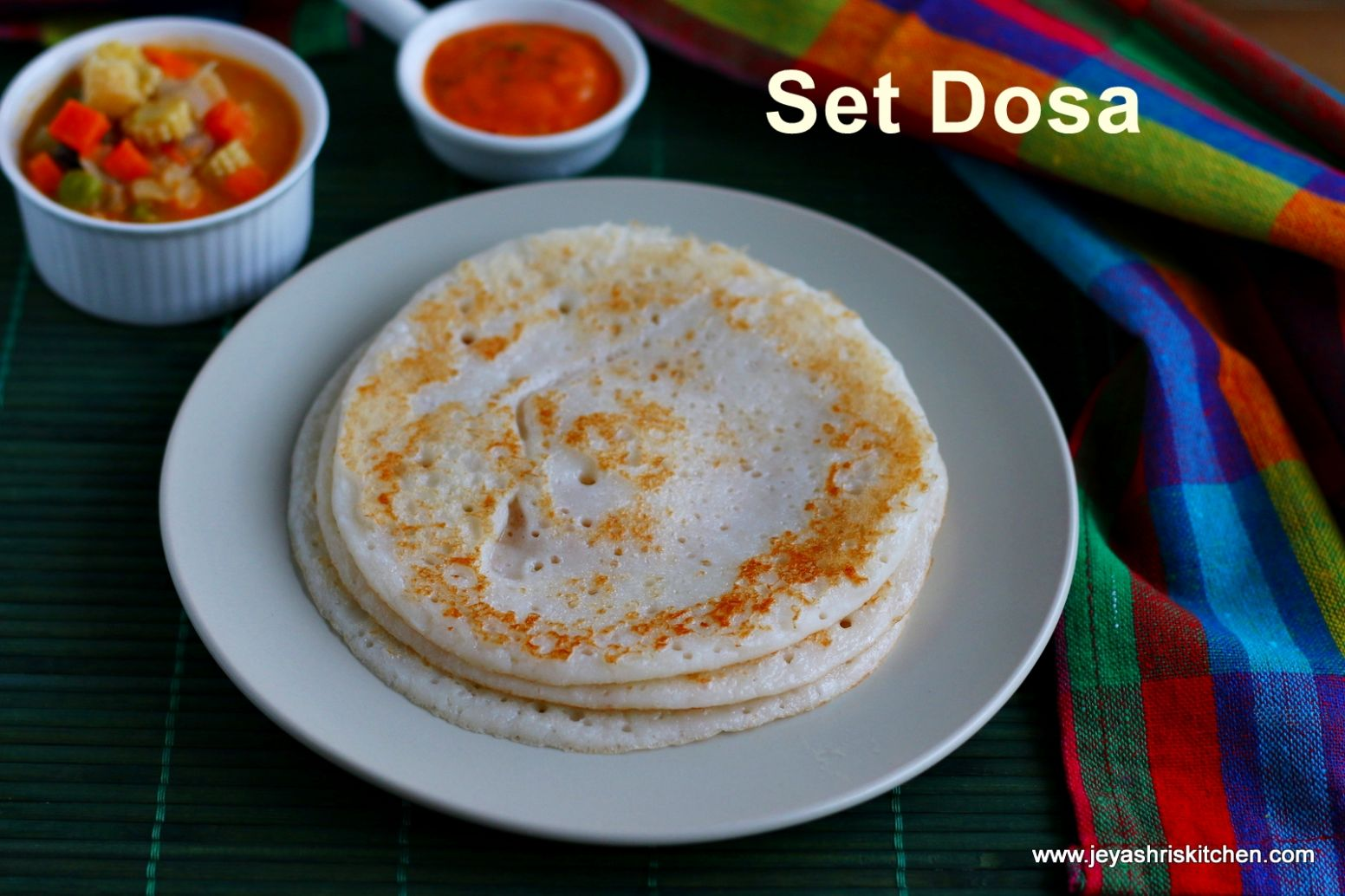 Set Dosa recipe | South Indian breakfast recipes by Jeyashri's Kitchen