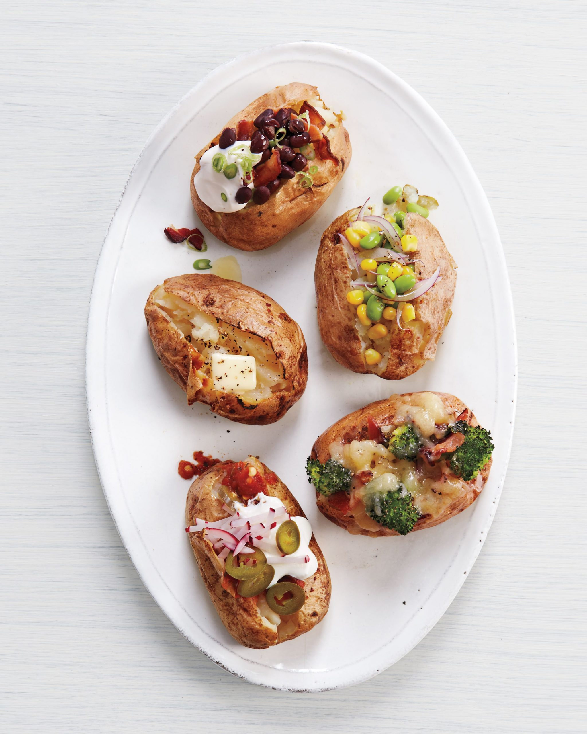 Set Up a Baked Potato Bar For Dinner Tonight | Martha Stewart - Recipes Potato Bar